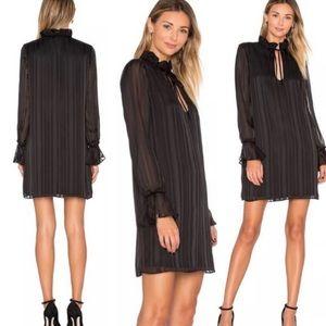 Revolve L'Academie 70s ruffle sleeve dress
